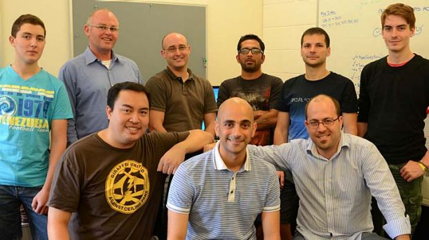 Dror Ben-Naim (centre, front) with the Smart Sparrow team.