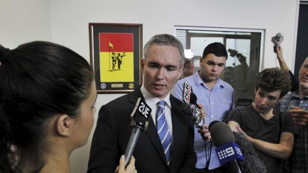Does not expect to be preselected again ... Craig Thomson addresses the media earlier this week.