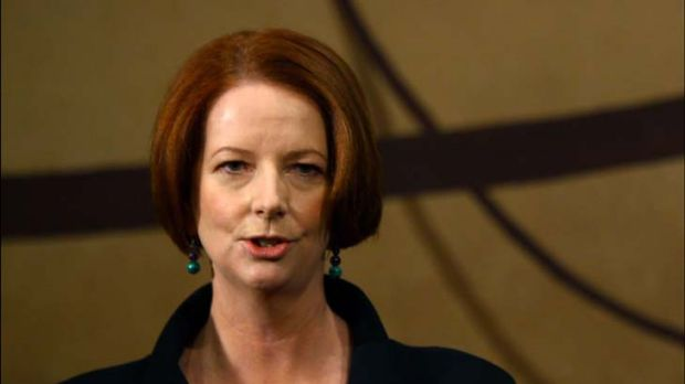 "Julia Gillard ...  ""under no illusions  about the depth of the political challenges""."