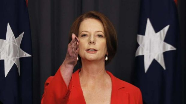The best of intentions ... Julia Gillard.