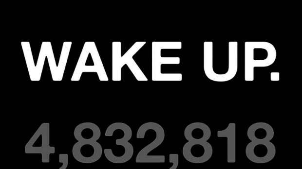 A screenshot of the countdown on the Wake Up website.