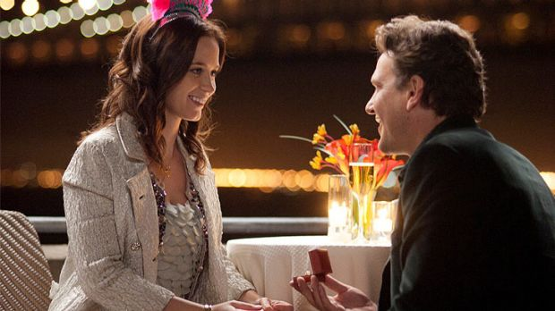 Emily Blunt and Jason Segel in The Five-Year Engagement.