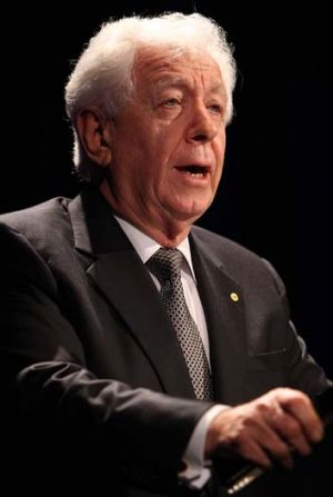 Sell-out .. Frank Lowy has sold his interest in Sydney FC
