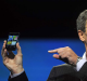 Research in Motion CEO Thorsten Heins holds up a prototype of the BlackBerry 10 smartphone at the BlackBerry World event ...