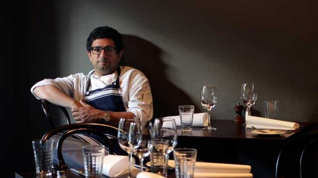 Chef Michael Bacash in his South Yarra restaurant: ''Why is the work you do on a Sunday so much more expensive than the ...