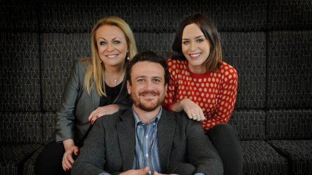 Unhappy families: Jacki Weaver, Jason Segel and Emily Blunt, stars of <i>The Five-Year Engagement</i>, in Melbourne ...