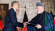 Obama signs US-Afghan strategic pact (Video Thumbnail)