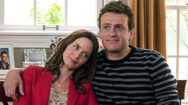 The long haul … plenty of hitches await Violet (Emily Blunt) and Tom (Jason Segel) on their way to the altar.