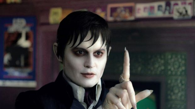 Johnny Depp portrays Barnabas Collins in Dark Shadows.