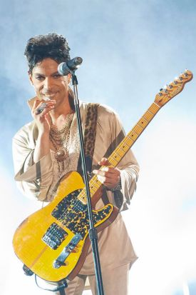 Prince headlines the main stage on the last day of Hop Farm Festival on July 3, 2011 in Paddock Wood, United Kingdom.