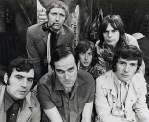 The Monty Python crew ... Terry Jones, John Cleese and Michael Palin, and top from left, Graham Chapman, Eric Idle and ...
