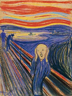 <i>The Scream</i> by Norwegian painter Edvard Munch.