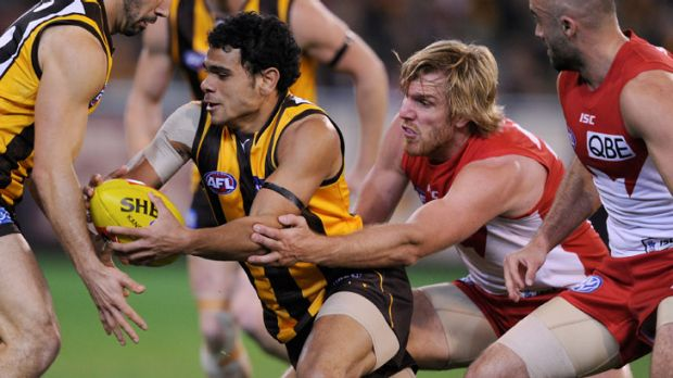 Cyril Rioli's lack of consistency has been highlighted by his teammates' apparent lack of willingness to contest possession.