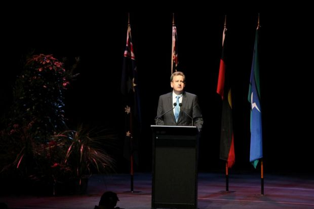 NSW Premier Barry O'Farrell said a few words at the service.
