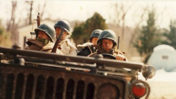 Soldiers in <i>Marwencol</I>.