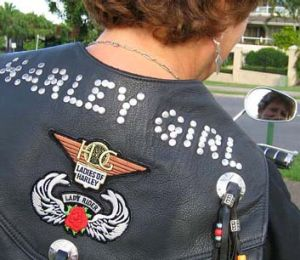 A member of the Brisbane Harley Owners Group.