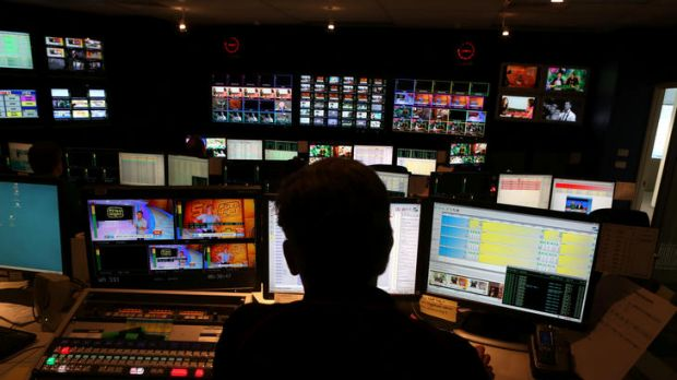 The Prime News on-air presentation control room.