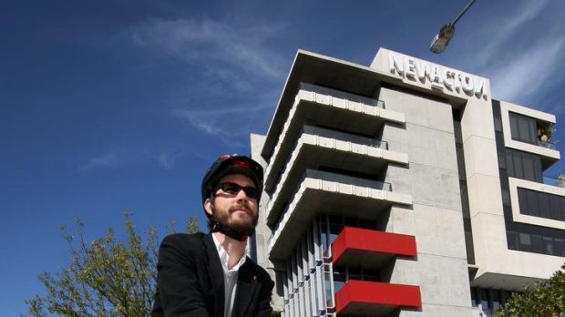 Heart Foundation active living co-ordinator Greg Mews at New Acton.  He is a urban designer working with the Heart ...
