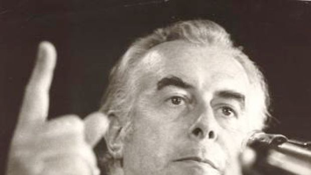 Prime Minister Gough Whitlam in 1975.