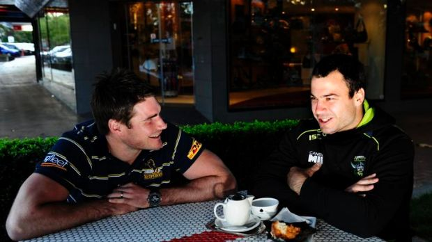 Brumbies captain Ben Mowen and Raiders Captain David Shillington played junior sport together in Queensland.