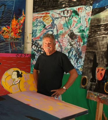 Ken Done in his studio in Mosman.