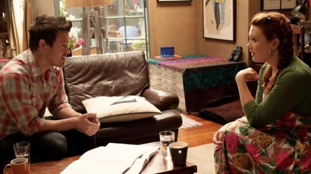 Bowditch in <i>Offspring</i>, with Eddie Perfect.