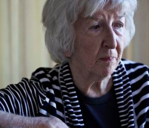 Harrower, aged 84, in her Sydney apartment.