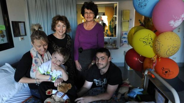 Four year-old Harri Browne, of Queanbeyan, who has been diagnosed with type 1 diabetes, pictured at the Canberra ...