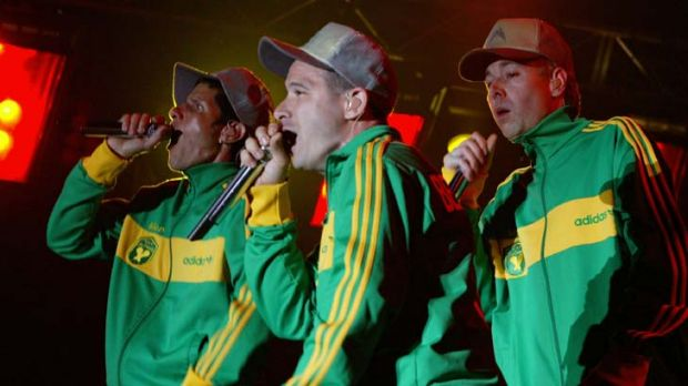 Hip hellions ... the Beastie Boys at the 2005 Big Day Out.