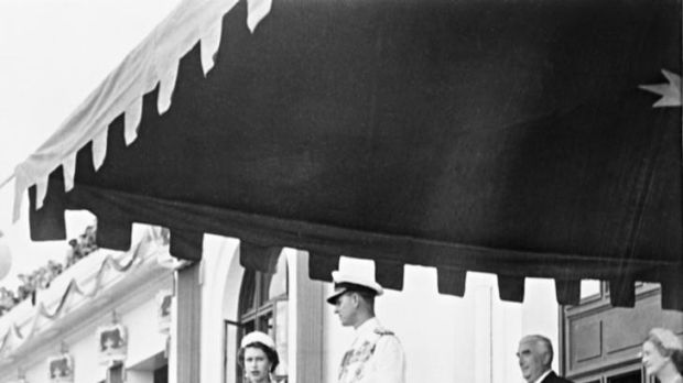 The Queen visiting Canberra in 1963.