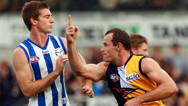 No. 1 is where the Eagles were before yesterday's game, and No. 1 is where they remain. Goalkicker Shannon Hurn enjoys ...