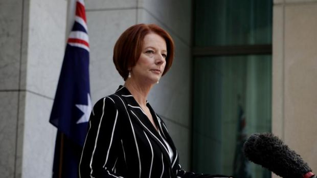 Jibes at journalists ... Julia Gillard announces Craig Thomson's departure from the Labor Party on April 29