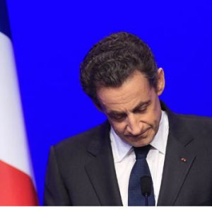Nicolas Sarkozy faces his loss.