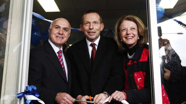 Helen Kroger, with Opposition Leader Tony Abbott, during the 2010 federal election.