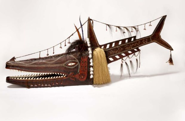 'Koedal Baydham Adhaz Parw (Crocodile Shark) mask' by Alick Tipoti, Kala Lagaw Ya people.