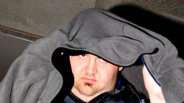 Alleged child sex offender Michael Watt leaves the Magistrates Court in April after being granted bail.