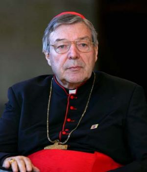 Pause for thought ... Cardinal George Pell.