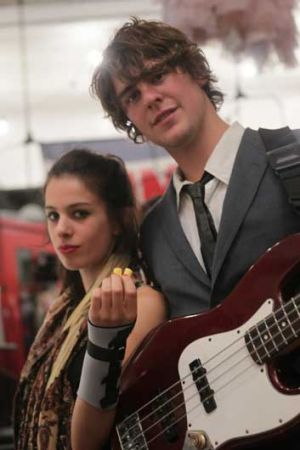 Violinist Sophie Di Tempora with her bass player boyfriend Richard Bradbeer.