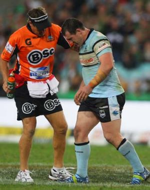 """""""It isn't the players' fault, it's the game's fault"""" ... Paul Gallen on players staying on the ground to attract penalties."""