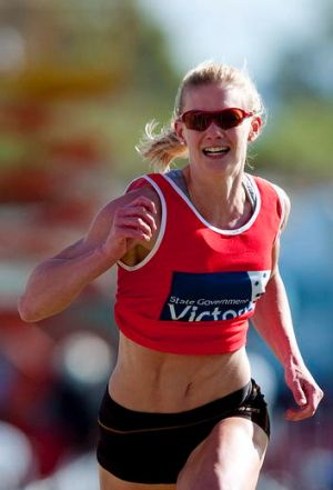 Melissa Breen in the Stawell Gift.