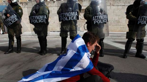 'Demands from Athens for the tough bailout conditions to be softened are turned down flat by the International Monetary ...