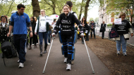 Paralysed Brit completes marathon after 16 days (Video Thumbnail)