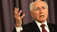 Former  PM John Howard  speaking at the National Press Club today Fairfax News 