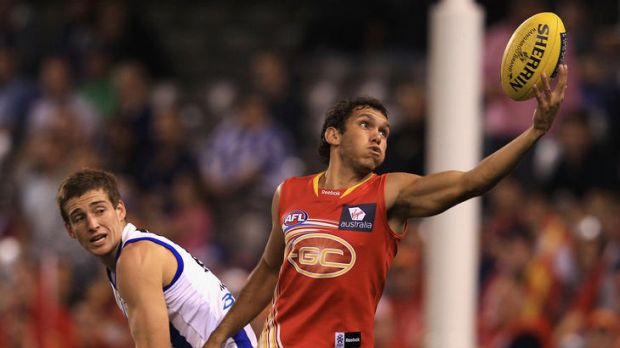 At home on the ground: Harley Bennell of the Suns.