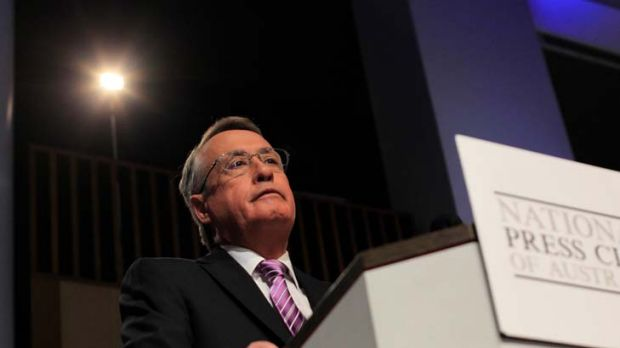 """As Mr [Wayne] Swan [pictured] will not be around to deliver a budget in four years' time, he can claim what he likes."""