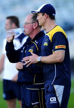 """""""If he [Stephen Larkham] says to me he would play, then of course we will go with that"""" ... ACT Brumbies coach Jake White."""
