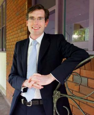 Accused ... state MP for Castle Hill, Dominic Perrottet.