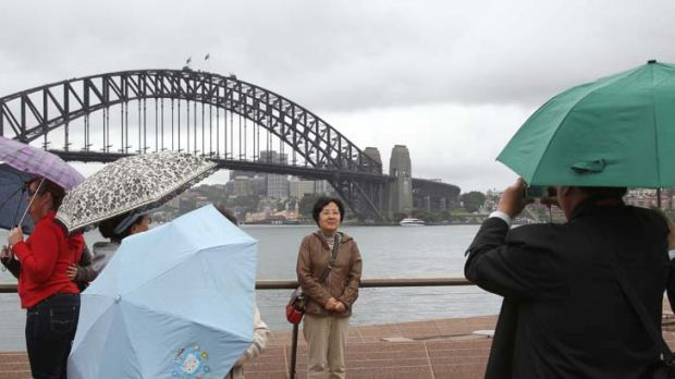 Dollar not a dampener ... despite the high dollar, tourists are arriving in record numbers.