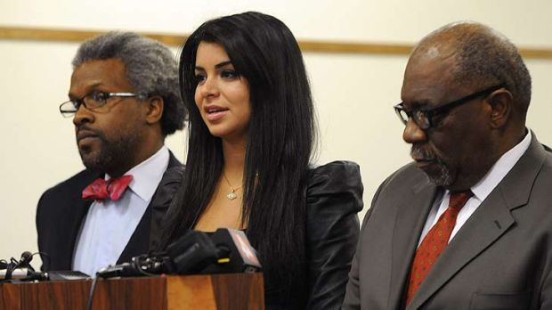 Fall from grace ...  Rima Fakih appears in court.