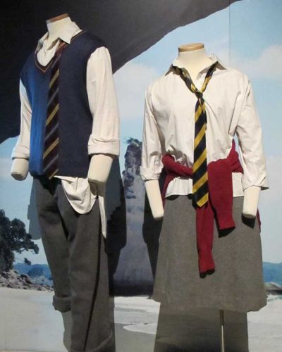 School uniforms for Peter and Lucy Pevensie worn in <i>The Cronicle of Narnia</i> series.